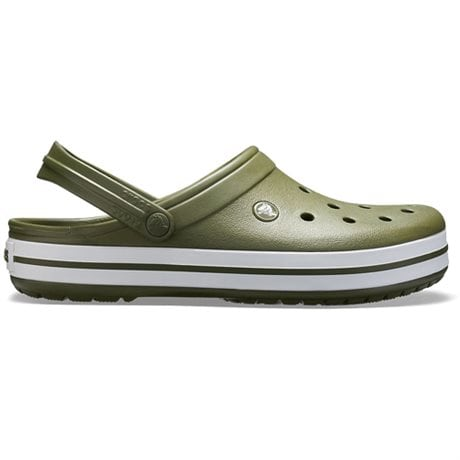 Crocs Crocband Clog Army Green White Unisex