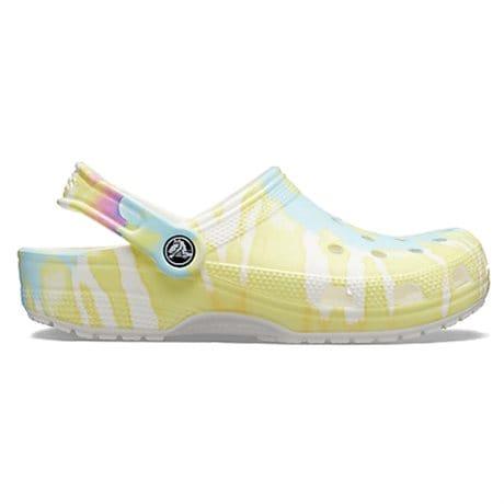 Crocs Classic Tie Dye Graphic Clog White Multi