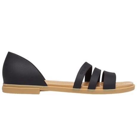 Crocs Tulum Open Flat Black Tan