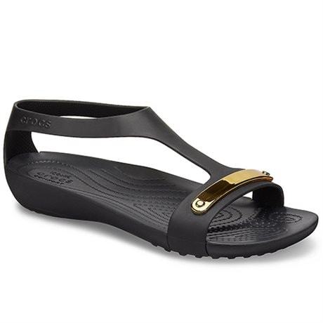 Crocs Sandaler Serena Metallic Bar Sdl Gold Black