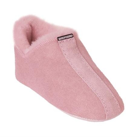 Shepherd Viared Fårskinnstoffel Barn Pink