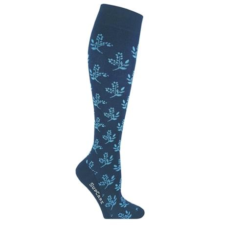 Stödstrumpor SupCare Blue Flower