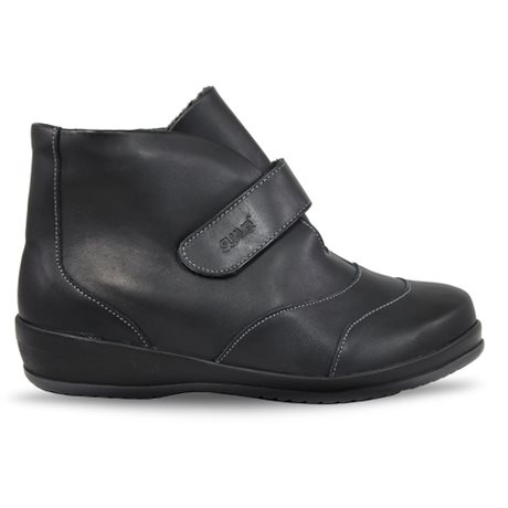 Suave Mei Zipper Boot Black