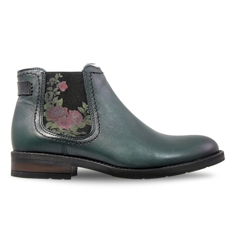 Charlotte Boots Roses Green