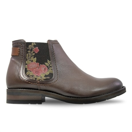 Charlotte Boots Roses Castanie
