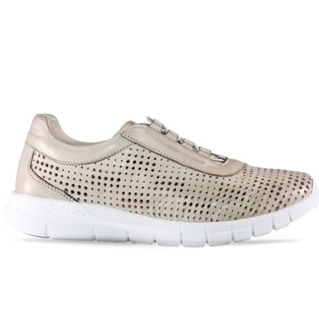 Charlotte Sneaker Shine Silvergrey
