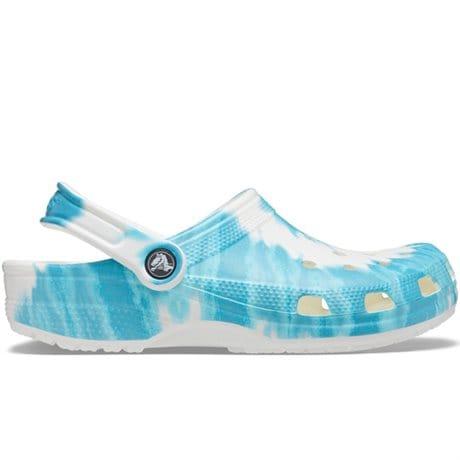 Crocs Classic Clog Tie Dye Graphic Digital Aqua