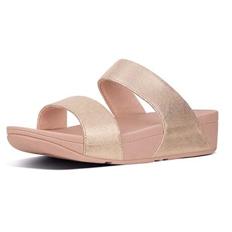 Fitflop Damsandal Shimmy Slide Pink Suede