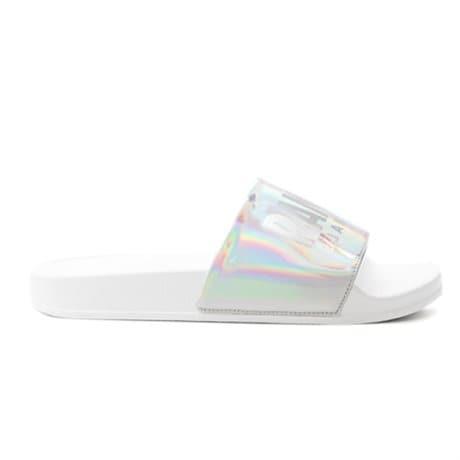 Colmar Slipper Lux White Silver