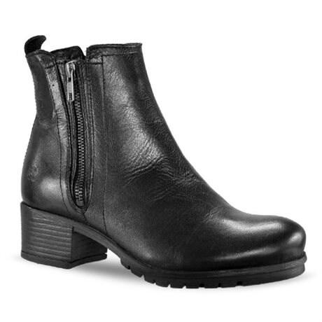 Resale Rosa Negra Zipper Boots Bari Black