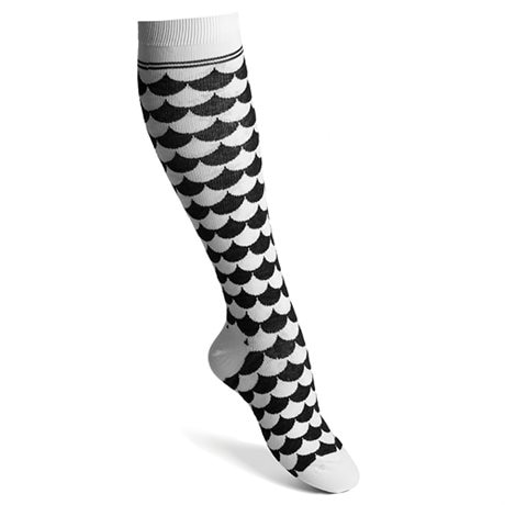 Funq Wear Kompressionsstrumpor Waves White Black