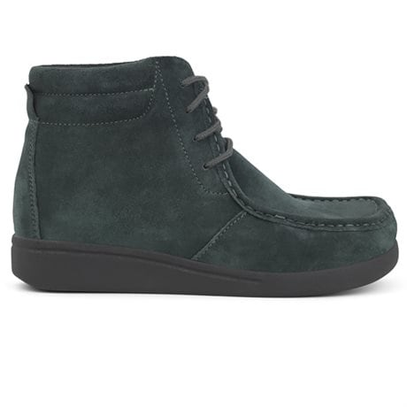 Green Comfort Happy Walking Lace Boot Forest Green