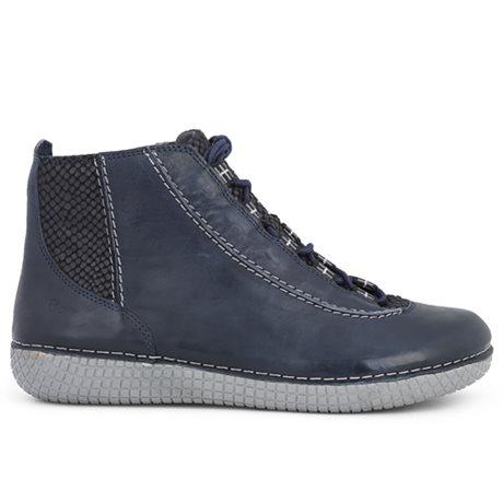 Green Comfort Marina Lace Boot Marine Blue