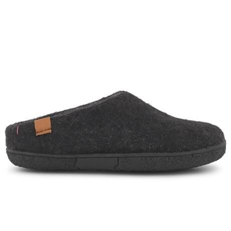 Green Comfort Tibet Wool Ulltofflor Yttersula Black