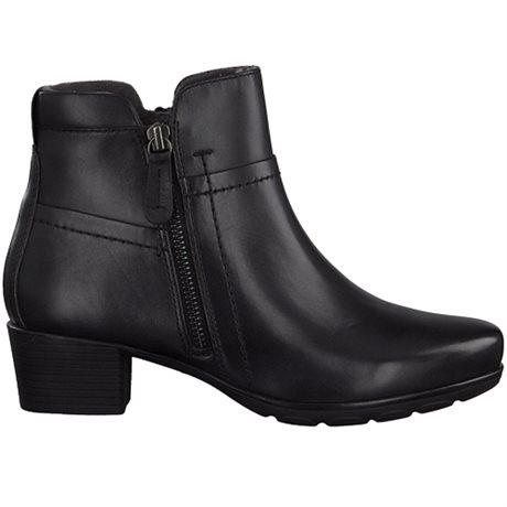 Jana Boots Comfort Zip H Black