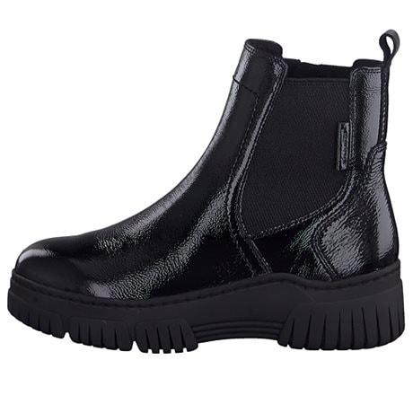 Tamaris Lady's Boots Black Patent