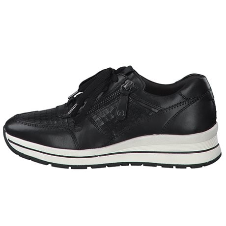 Tamaris Pure Relax Lady's Lace-up Sneakers Black Croco