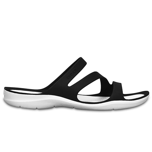 453eeee6ffb Crocs Women's Swiftwater Sandal Black White hos Minfot.se