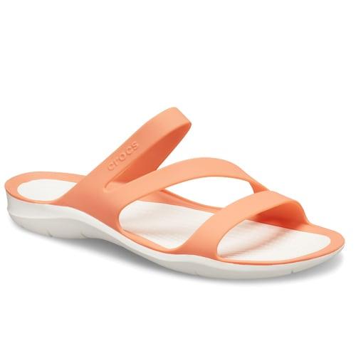 Crocs Swiftwater Sandal Grapefruit White hos Minfot.se