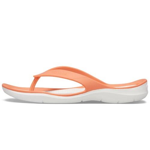 Crocs Swiftwater Flip Grapefruit White hos Minfot.se
