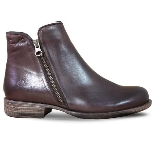 Rosa Negra Autumn Zipper Boot DK Brown